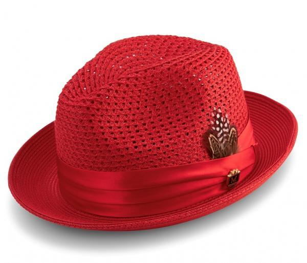 Montique H 34 Mens Straw Fedora Hat Red 600x514, Abby Fashions