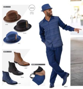 montique-walking-suits-2014-navy-mens-2pc-leisure-suits-with-matching-boots-and-hats