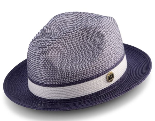 Montique H 22 Mens Straw Hat Purple 600x467, Abby Fashions