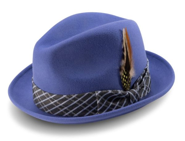 Montique H 2006 Mens Matching Hat Navy Fedora Wool Felt Hat 600x459, Abby Fashions