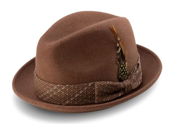 Montique H 2014 Mens Matching Hat Beige Fedora Wool Felt Hat 600x427, Abby Fashions