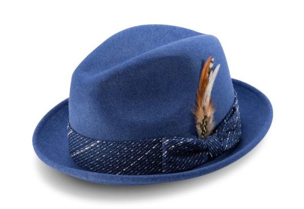 Montique H 2014 Mens Matching Hat Navy Fedora Wool Felt Hat 600x412, Abby Fashions