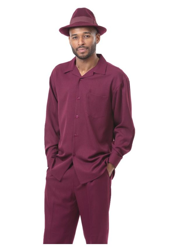 montique-mens-walking-suits-1641-burgundy-solid-mens-2pc-leisure-suits