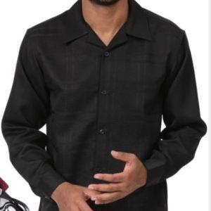 montique-mens-walking-suits-2001-black-tone-on-tone-solid-long-sleeve-mens-2pc-leisure-suits