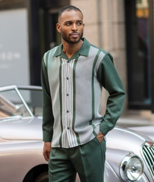 Montique Walking Suits 2060 Green Mens 2pc Leisure Suits 600x710, Abby Fashions