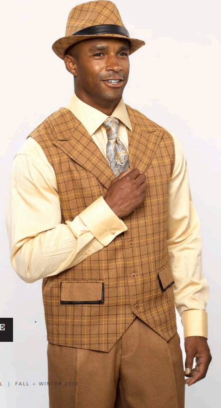 Monologue By Montique Mens Vest Sets V 07 Camel, Abby Fashions