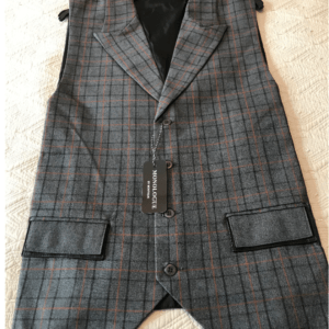 Monologue by Montique Mens Vest Sets V-07 Grey