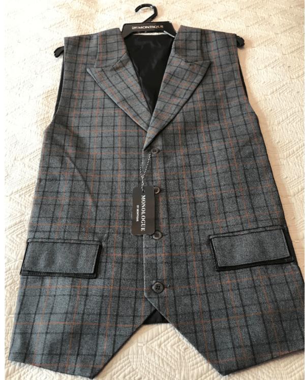 Monologue By Montique Mens Vest Sets V 07 Grey Vest 600x749, Abby Fashions