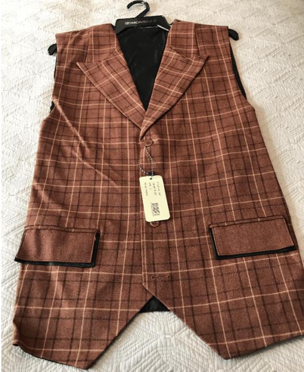 Monologue By Montique Mens Vest Sets V 07 Rust Vest 600x735, Abby Fashions