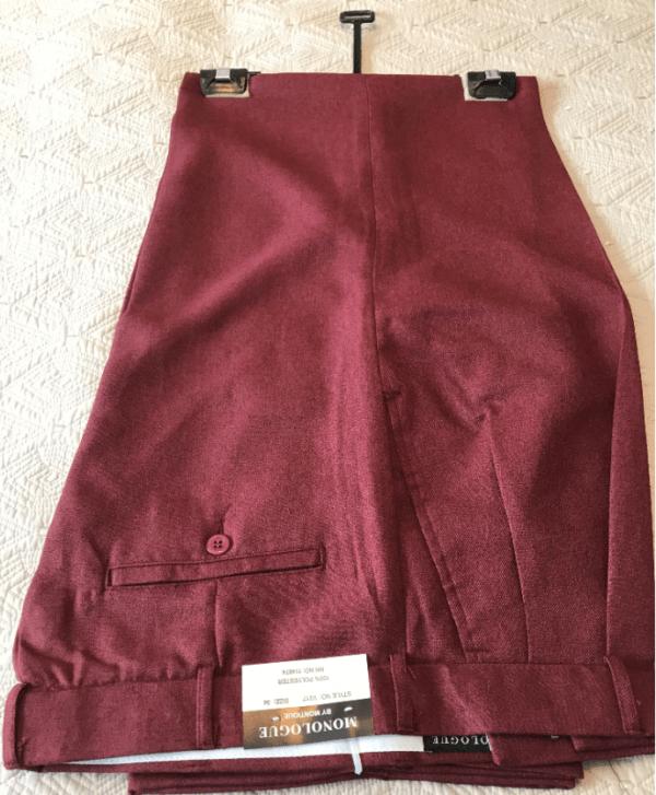 Monologue By Montique Mens Vest Sets V 217 Cranberry Pants 600x727, Abby Fashions