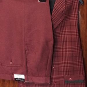 Monologue by Montique Mens Vest Sets V-217 Cranberry