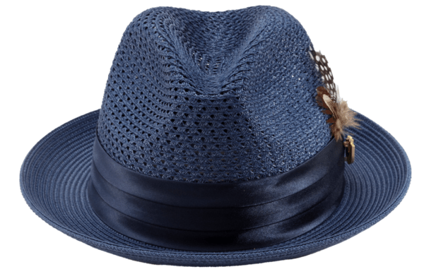 Montique H 34 Mens Straw Fedora Hat Navy With Matching Satin Ribbon A 600x388, Abby Fashions