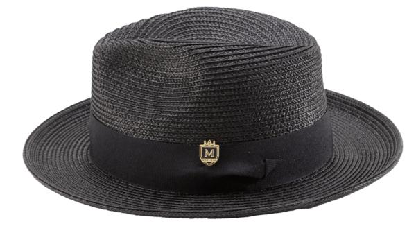 montique-h-42-mens-straw-fedora-hat-black-wide-brim-pinch-hat-1