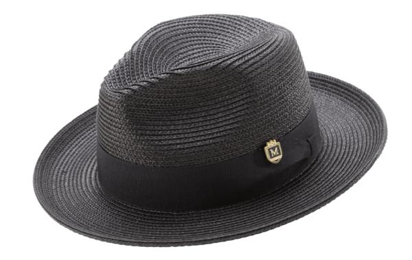 montique-h-42-mens-straw-fedora-hat-black-wide-brim-pinch-hat