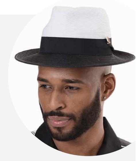 montique-h-47-mens-straw-fedora-hat-black-white-two-tone-wide-brim-pinch-hat-p