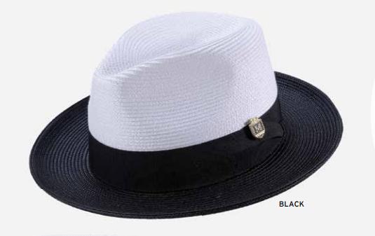 montique-h-47-mens-straw-fedora-hat-black-white-two-tone-wide-brim-pinch-hat-s