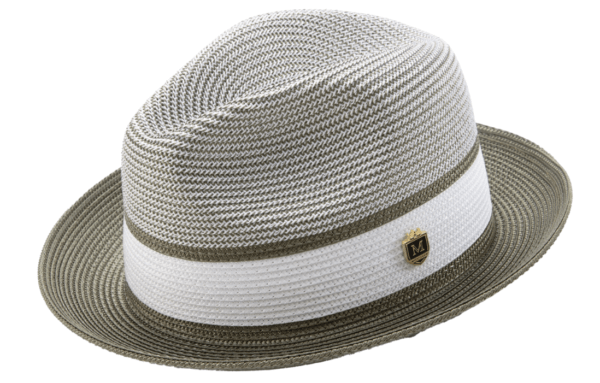 montique-h-22-mens-straw-fedora-hat-olive-two-tone-pinch-fedora-hat-1