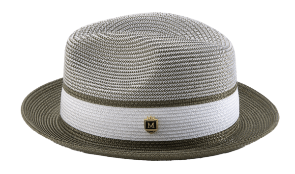 montique-h-22-mens-straw-fedora-hat-olive-two-tone-pinch-fedora-hat-3