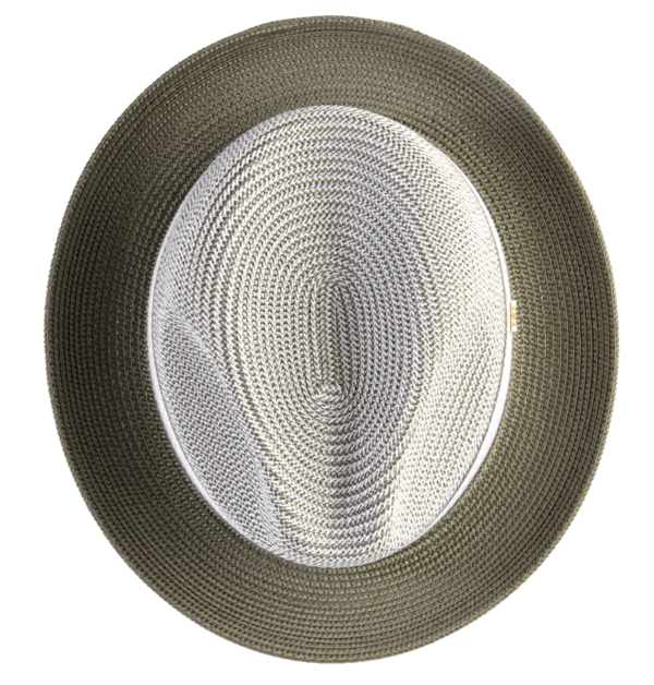 montique-h-22-mens-straw-fedora-hat-olive-two-tone-pinch-fedora-hat-4