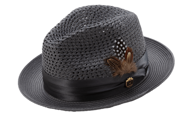 Montique H 34 Mens Straw Fedora Hat Grey With Matching Satin Ribbon A 600x376, Abby Fashions