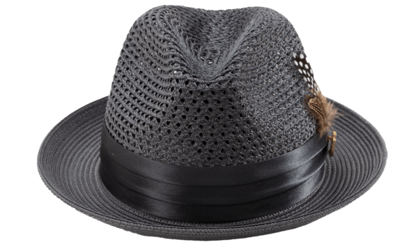 Montique H 34 Mens Straw Fedora Hat Grey With Matching Satin Ribbon B 600x357, Abby Fashions