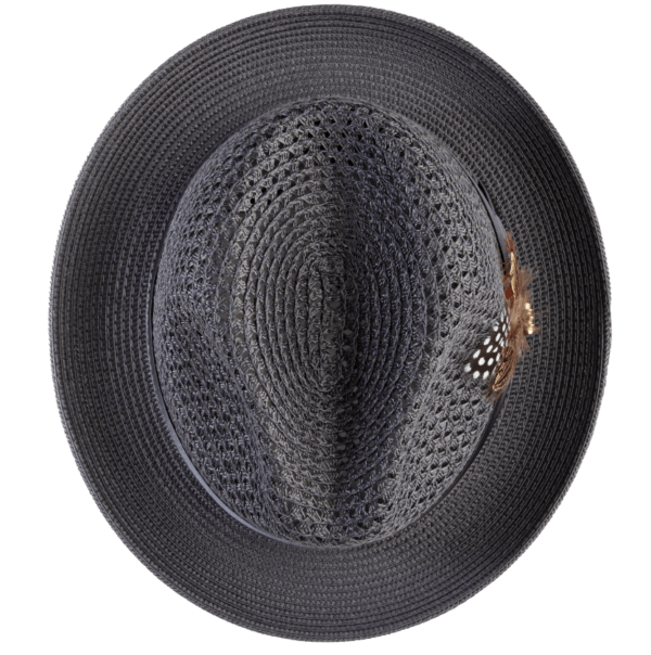 Montique H 34 Mens Straw Fedora Hat Grey With Matching Satin Ribbon D 600x604, Abby Fashions