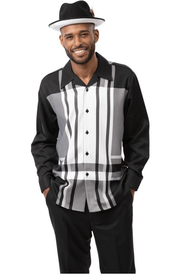 Montique Walking Suits 2124 Black Long Sleeve Mens 2pc Leisure Suits 600x925, Abby Fashions