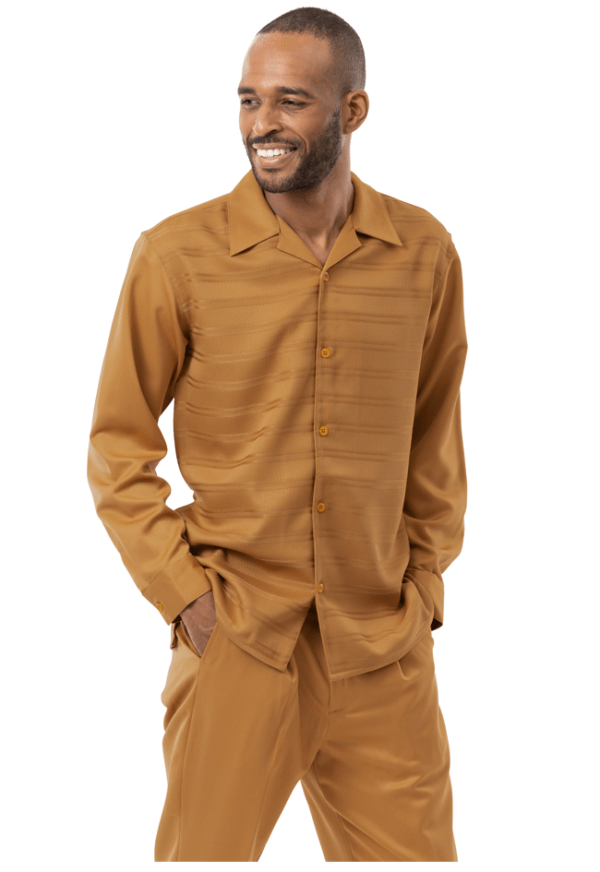 Montique Walking Suits 2139 Camel Long Sleeve Mens 2pc Leisure Suits 600x872, Abby Fashions