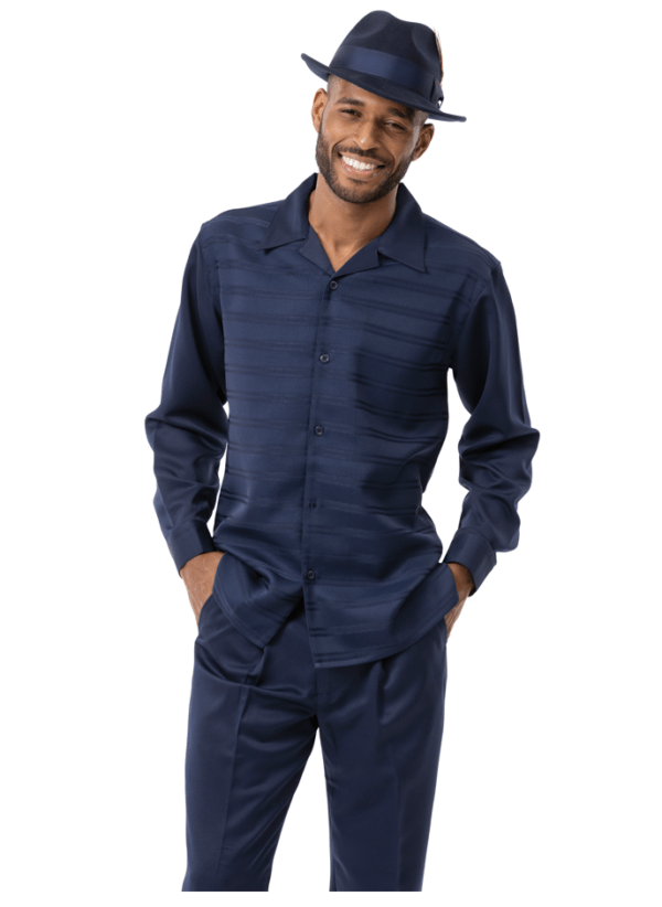 Montique Walking Suits 2139 Navy Long Sleeve Mens 2pc Leisure Suits 600x822, Abby Fashions