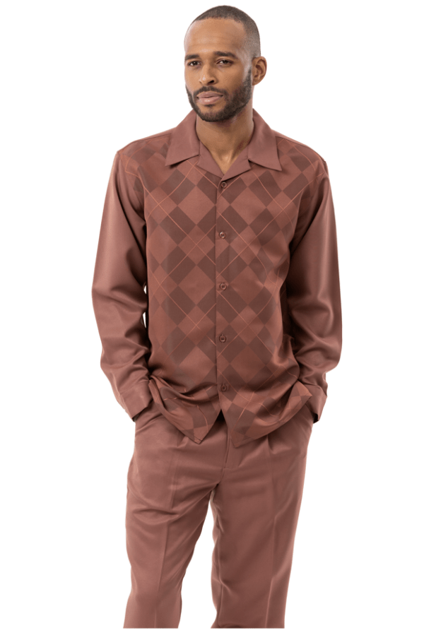 Montique Walking Suits 2156 Chocolate Long Sleeve Mens 2pc Leisure Suits 600x906, Abby Fashions