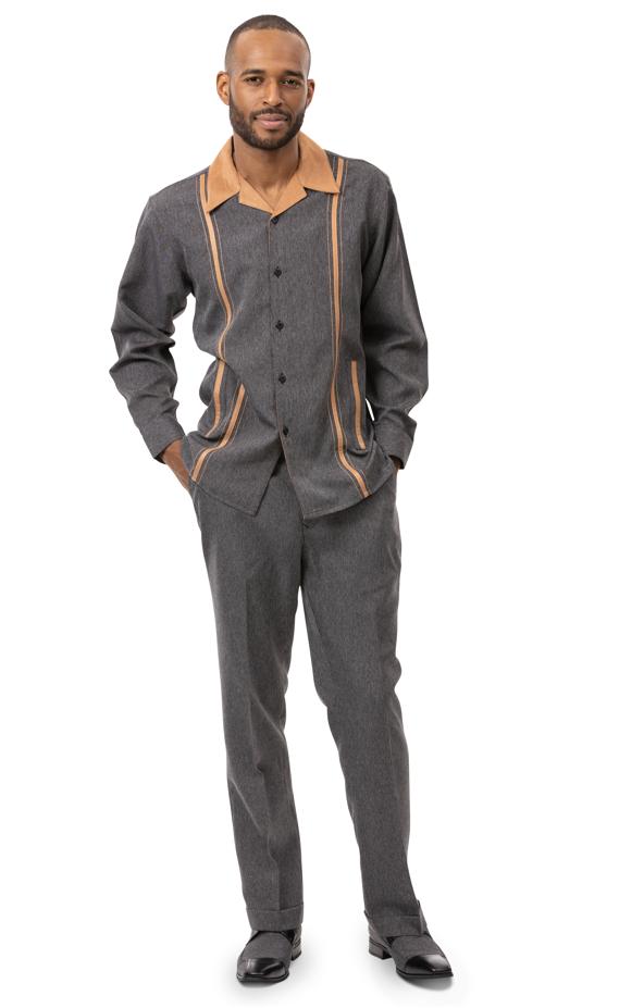 Montique Jacket Set D 64 Black Mens Denim Jacket And Pants Set Denim Walking Suits, Abby Fashions