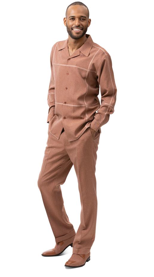 Montique Jacket Set D 65 Cognac Mens Denim Jacket And Pants Set Denim Walking Suits, Abby Fashions