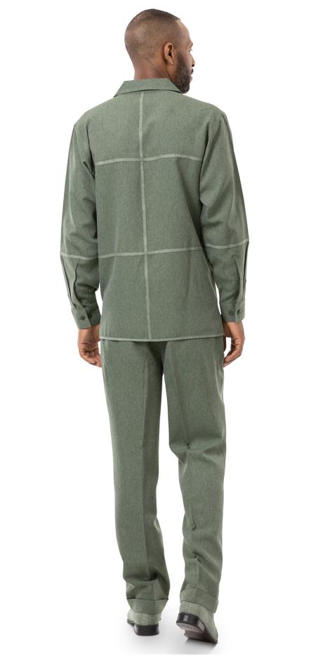 Montique Jacket Set D 65 Hunter Mens Denim Jacket And Pants Set Denim Walking Suits Back, Abby Fashions