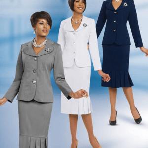 Ben Marc 78095 – 2pc Women's Usher Suit – Womens Church Suits