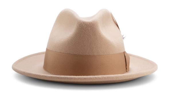 Montique H 60 Felt Hat Beige Mens Godfather Hat Front 600x324, Abby Fashions