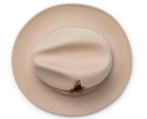 Montique H 60 Felt Hat Beige Mens Godfather Hat Top 600x483, Abby Fashions