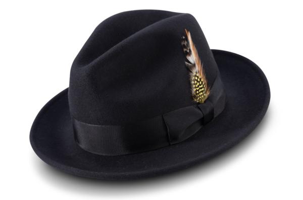 Montique H 60 Felt Hat Black Mens Godfather Hat 600x397, Abby Fashions