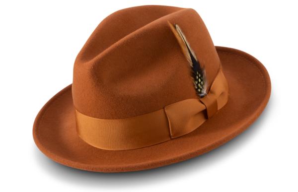 Montique H 60 Felt Hat Cognac Mens Godfather Hat 600x387, Abby Fashions