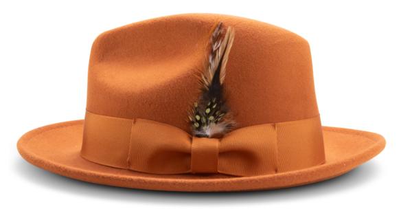 Montique H 60 Felt Hat Cognac Mens Godfather Hat Side 600x323, Abby Fashions