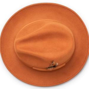 Montique H-60 Fedora Hat Cognac – Light Felt Snap Brim 1/2 inches
