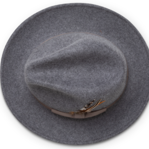 Montique H-60 Fedora Hat Grey – Light Felt Snap Brim 1/2 inches