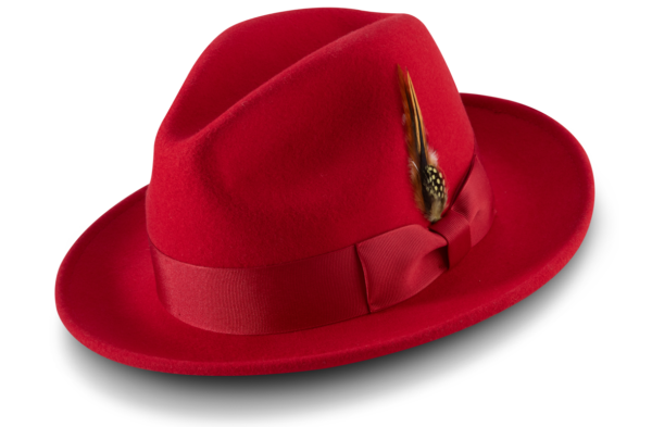 Montique H 60 Felt Hat Red Mens Godfather Hat 600x393, Abby Fashions