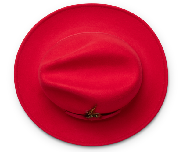 Montique H 60 Felt Hat Red Mens Godfather Hat Top 600x497, Abby Fashions