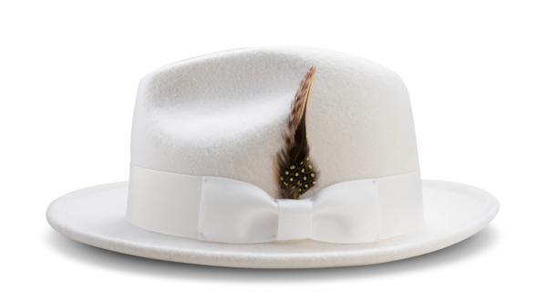 Montique H 60 Felt Hat White Mens Godfather Hat Side 600x332, Abby Fashions